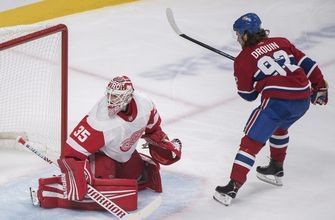 Drouin scores 2 to lead Canadiens in 7-3 win over Red Wings