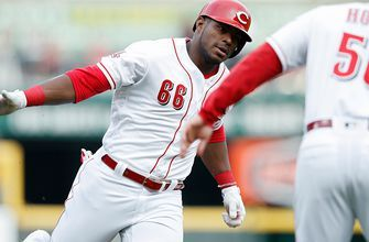 Yasiel Puig's 432 foot home run is the difference in 7-6 win over Braves
