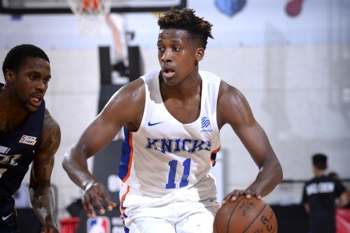 It's a changed Frank Ntilikina with position battle looming