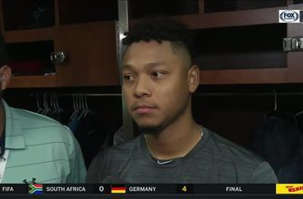 Elieser Hernandez discusses his pitch selection after Marlins' loss to Cardinals