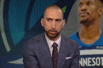 Nick Wright on Jimmy Butler's practice antics: 'This was to remind the world who he is'
