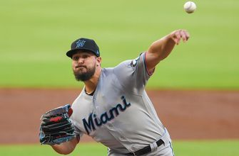 Marlins starter Caleb Smith hits his first career extra-base hit in shutout loss to Braves