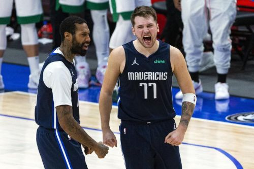 Watch: Luka Doncic hits step-back three at the buzzer to lift Mavs over Celtics