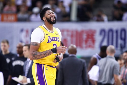 Davis injured as Lakers fall to Nets in final game of China series