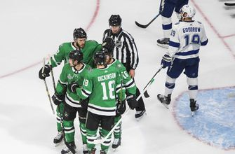 Dickinson, Heiskanen have a Goal in Dallas' 5-2 loss in Game 3