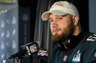 "Colin Cowherd confronts Lane Johnson about his ""fun"" comment after the Super Bowl win over Patriots"