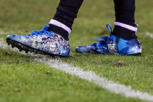 Eric Reid's 'My Cause My Cleats' feature drawing of Colin Kaepernick