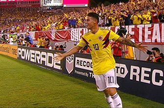 James Rodriguez curves in a beautiful goal vs. the USMNT | 2018 International Friendly Highlights