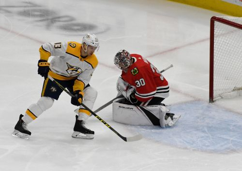 Ward makes 30 saves as Blackhawks beat Predators 2-1