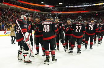 Aho leads Hurricanes past Predators 6-3