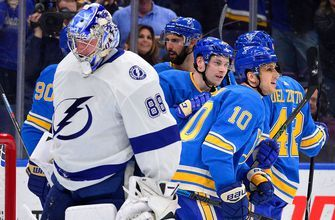 Lightning's 7-game win streak snapped by Blues in 4-3 loss