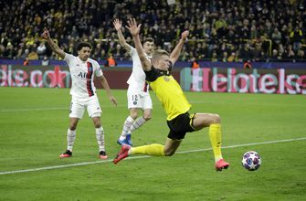 Haaland nets 2 to give Dortmund 2-1 win over PSG in CL