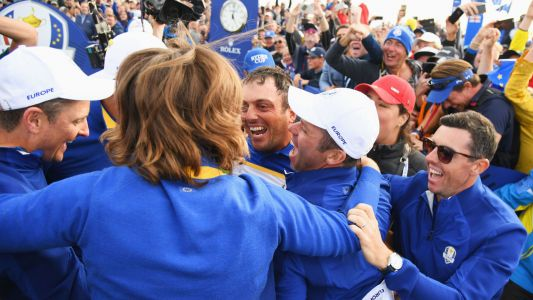 Molinari played with back injury during record-setting Ryder Cup