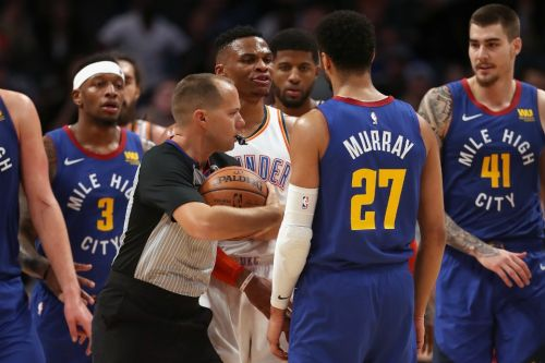 Russell Westbrook, Jamal Murray Get into It at End of Thunder vs. Nuggets 🎥