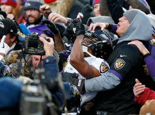 Baltimore Ravens' Marcus Peters fined $14,000 for beer shower celebration in stands