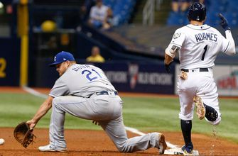 Overturned call lifts Rays, as Royals shut out for third time in August