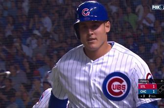 Anthony Rizzo homers in shocking return from ankle injury to knot Cubs, Cardinals at 1-1