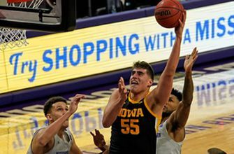 Luka Garza goes off for first-half double-double in No. 5 Iowa's 96-73 thrashing of Northwestern