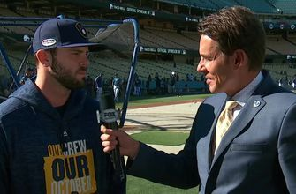 Mike Moustakas talks about his approach on facing Rich Hill in Game 4 of NLCS