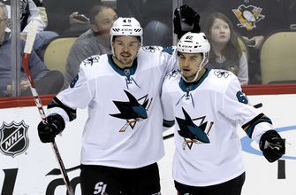 Sharks jump on Penguins early in 4-0 victory