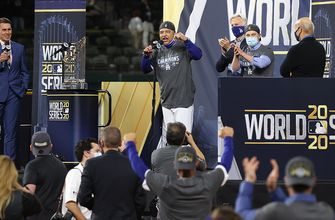 Dodgers are awarded Commissioner's Trophy as World Series champions for first time in 32 years