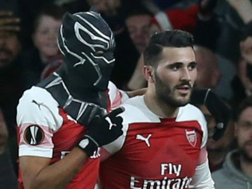 Wakanda Forever! Aubameyang celebrates with Black Panther mask in Arsenal win