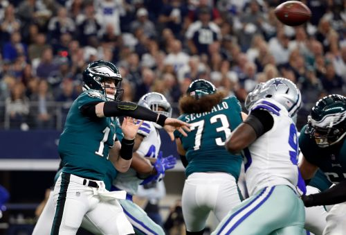 Eagles QB Carson Wentz could miss Rams game, rest of season with back injury, per report