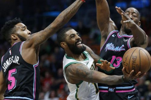 Heat hustle Celtics, silence Kyrie Irving late