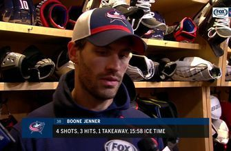 Inside the Columbus Blue Jackets locker room after losing to Chicago