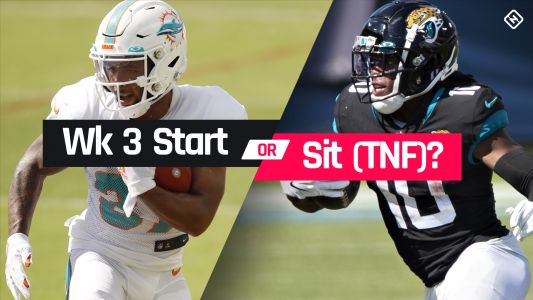 Dolphins vs. Jaguars Fantasy Football Start 'Em Sit 'Em for Week 3 'Thursday Night Football'