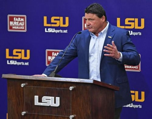 LSU's Ed Orgeron 'excited' about new contract, talks assistant coach Bill Busch's raise