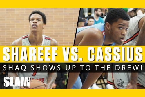Shaq Watches Shareef O'Neal & Cassius Stanley at the Drew League!