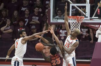 Clark's 3-pointer lifts Virginia past Virginia Tech, 56-53