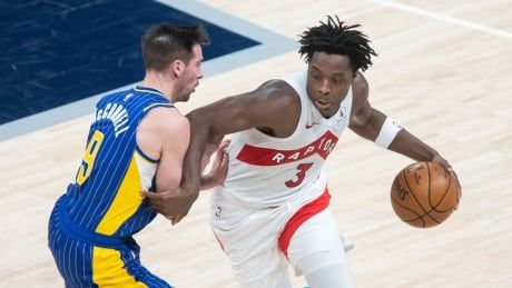 Anunoby's hot hand helps short-handed Raptors down Pacers