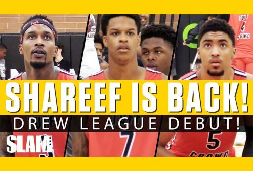 Shareef O'Neal Teams Up with Brandon Jennings at the Drew League 👀