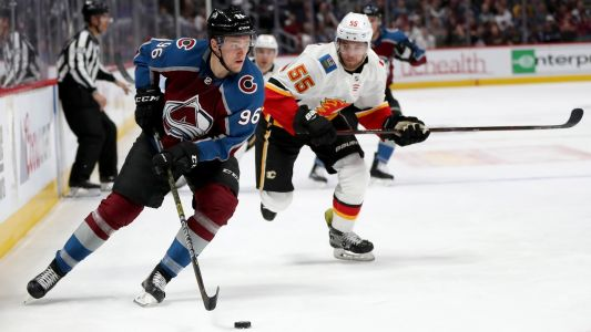 NHL playoffs 2019: Mikko Rantanen ties, wins game for Avalanche, who lead Flames 3-1 in series