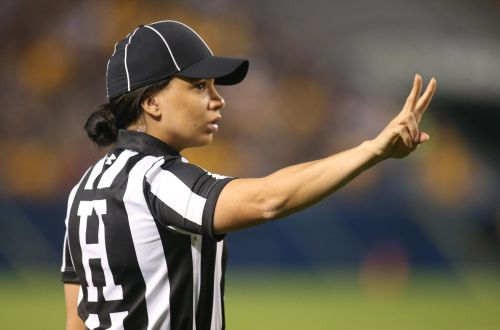 Maia Chaka becomes first Black woman to be named an NFL official