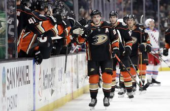 Ducks beat Rangers in shootout after Lindholm ties it late