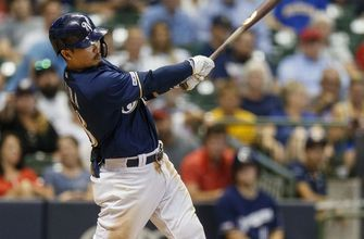 WATCH: Brewers rookie Keston Hiura comes up HR short of cycle