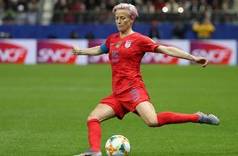 Megan Rapinoe smashes the stunning goal to give the U.S. a 9-0 lead over Thailand