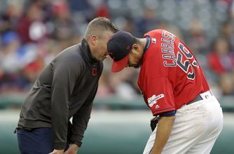 Carrasco injures knee in Indians' 3-1 loss to Marlins