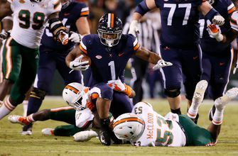 No. 16 Hurricanes' offense sputters in 19-13 loss to Virginia