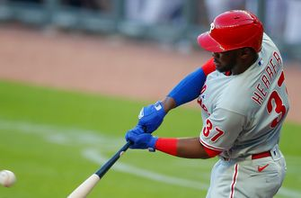 Phillies record six runs in the opening frame vs. Braves, 12-2