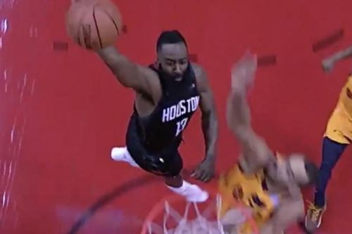 Watch: James Harden dunks in face of 7-footer Rudy Gobert