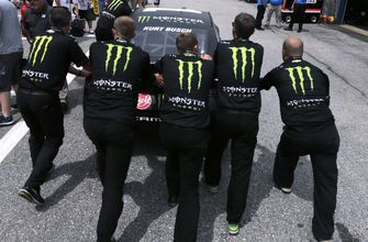 The Latest: Kevin Harvick races to 1st win season
