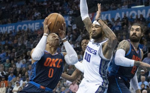 Nuggets hold off Warriors, Kings spoil Westbrook debut