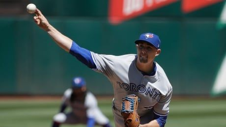 Blue Jays lose another starter, win another game against A's