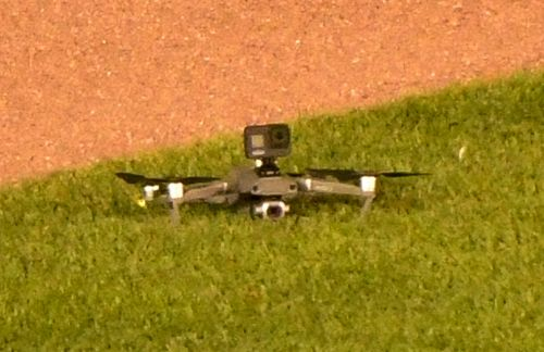 Cubs-Indians game delayed by blinking drone landing on field
