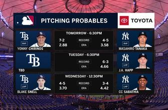 Rays battle with Yankees for first place in AL East