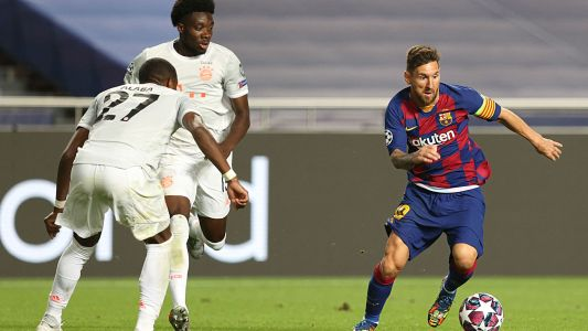 Alphonso Davies, Bayern Munich show Lionel Messi, Barcelona who's boss in Champions League rout